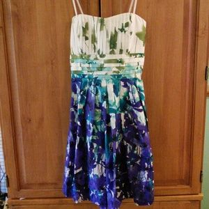 Floral Strapless Party Dress